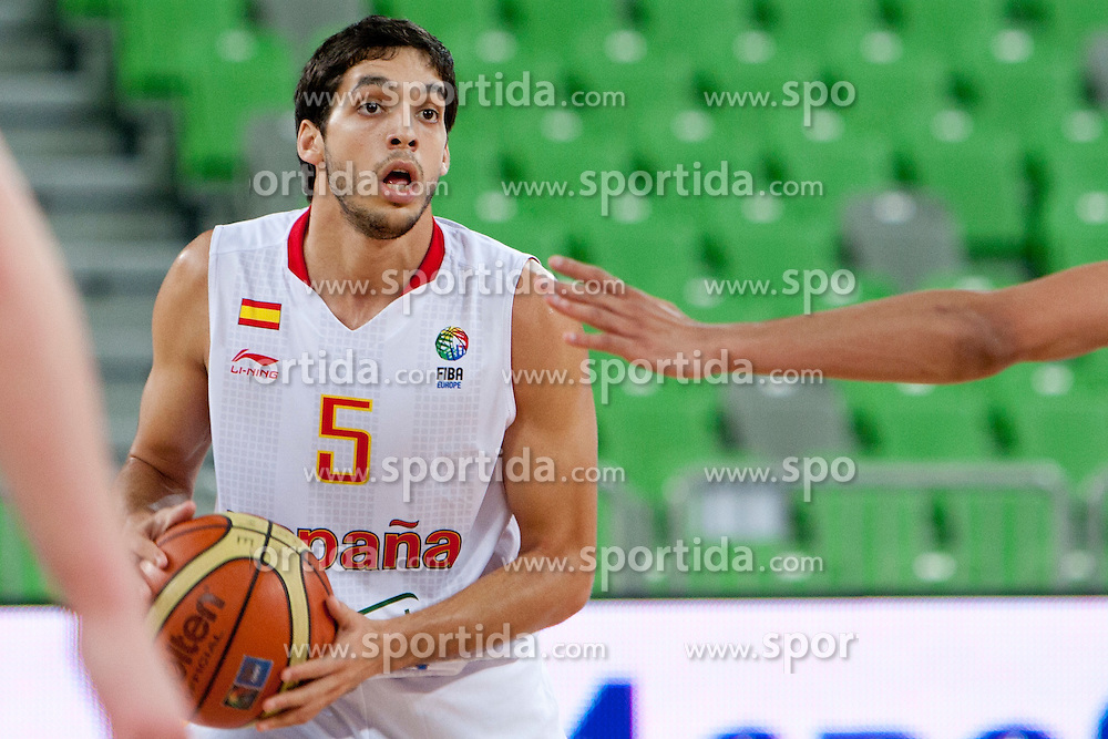 Jose Pozas of Spain during basketball match between National teams of Spain and France in semifinal of U20 Men European Championship Slovenia 2012, on July 21, 2012 in SRC Stozice, Ljubljana, Slovenia. (Photo by Urban Urbanc / Sportida.com)