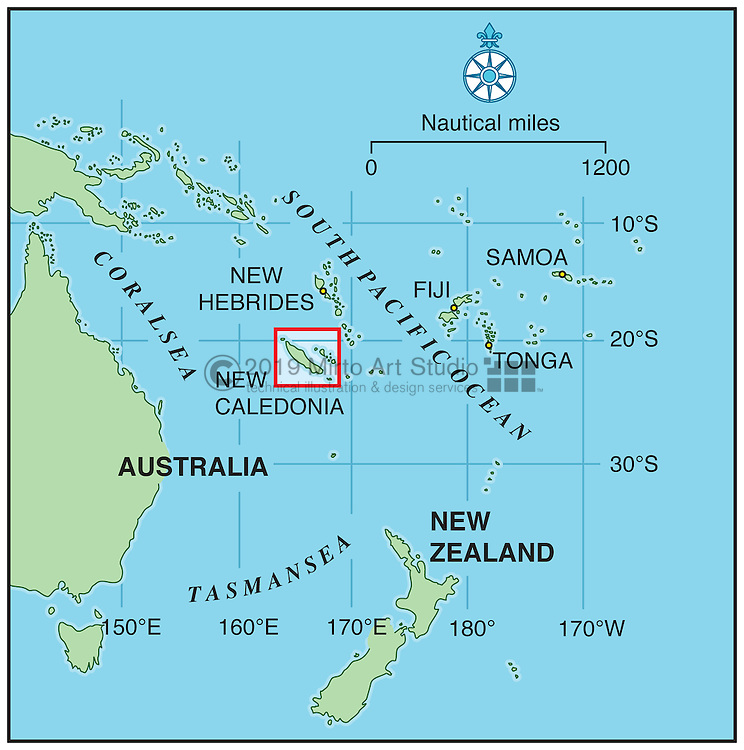 Vector map of New Caledonia