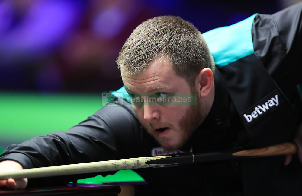 Mark Allen during his match with Peter Lines on day seven of the 2017 Betway UK Championships at the York Barbican. PRESS ASSOCIATION Photo. Picture date: Monday December 4, 2017. See PA story SNOOKER York. Photo credit should read: Mike Egerton/PA Wire