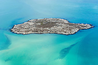 Aerial view of Schaapen Island within the West Coast National Park, Western Cape, South Africa