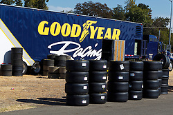 ROSEVILLE, CA - OCTOBER 13: General view of the Goodyear Racing truck with tires near the garage during practice for the NASCAR K&N Pro Series West Toyota/NAPA 150 at the All American Speedway on October 13, 2012 in Roseville, California. (Photo by Jason O. Watson/Getty Images for NASCAR) *** Local Caption ***