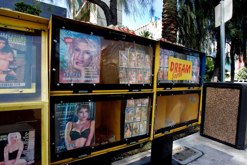 US-LAS VEGAS: Advertising for strippers and prostitutes..PHOTO GERRIT DE HEUS