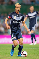 SYDNEY, AUSTRALIA - APRIL 06: Melbourne Victory midfielder Keisuke Honda (4) looks to kick the ball at round 24 of the Hyundai A-League Soccer between Sydney FC and Melbourne Victory on April 06, 2019, at The Sydney Cricket Ground in Sydney, Australia. (Photo by Speed Media/Icon Sportswire)
