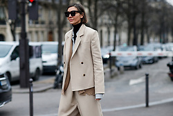 Street style, Julie Pelipas arriving at Haider Ackermann Fall-Winter 2018-2019 show held at Palais de Chaillot, in Paris, France, on March 3rd, 2018. Photo by Marie-Paola Bertrand-Hillion/ABACAPRESS.COM