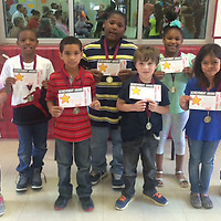 HLES SECOND GRADE STUDENT OF MONTH<br /> (Courtesy Photo)<br /> The following Houston Upper Elementary Second Grade Students of the Month for April are: Front row from left, Ashtyn Smith, Shawn Devon Buchanan, Trey Griggs and Gracie Copeland. Second row from left are, Jayden Knox, Jontavis Hill, Hannah Carter and Gabie Alfaro.