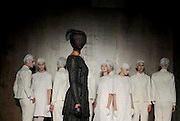 The Thom Browne Fall 2015 collection is modeled during New York Fashion Week, Monday, Feb. 16, 2015.  (AP Photo/Diane Bondareff)
