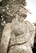 A weathered statue at Taxinge Slott, outside of Stocckholm, Sweden.