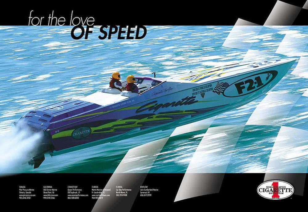Cigarette Racing image advertisement