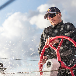 Jimmy Spithill sails F4 race yacht from New York to Bermuda with Team Falcon on November 5, 2016