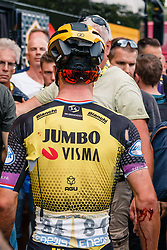 Dylan Groenewegen (NED) of Team Jumbo-Visma (NED,WT,Bianchi) after stage 1 from Bruxelles to Brussel of the 106th Tour de France, 6 July 2019. Photo by Pim Nijland / PelotonPhotos.com | All photos usage must carry mandatory copyright credit (Peloton Photos | Pim Nijland)