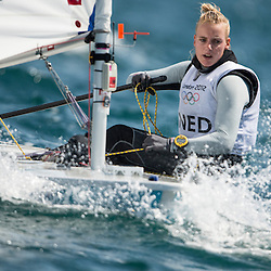2012 Olympic Games London / Weymouth<br /> Racing day 1 Laser<br /> Laser RadialNEDBouwmeester Marit