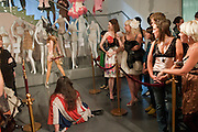 JOHNNY BLUE EYES' BURLESQUE DANCER, , HOUSE OF BLUEEYES ? show  in the Undercover exhibition. Fashion and Textile Museum, Bermondsey Street<br /> London. 25 July 2009<br /> JOHNNY BLUE EYES' BURLESQUE DANCER, , HOUSE OF BLUEEYES Ð show  in the Undercover exhibition. Fashion and Textile Museum, Bermondsey Street<br /> London. 25 July 2009