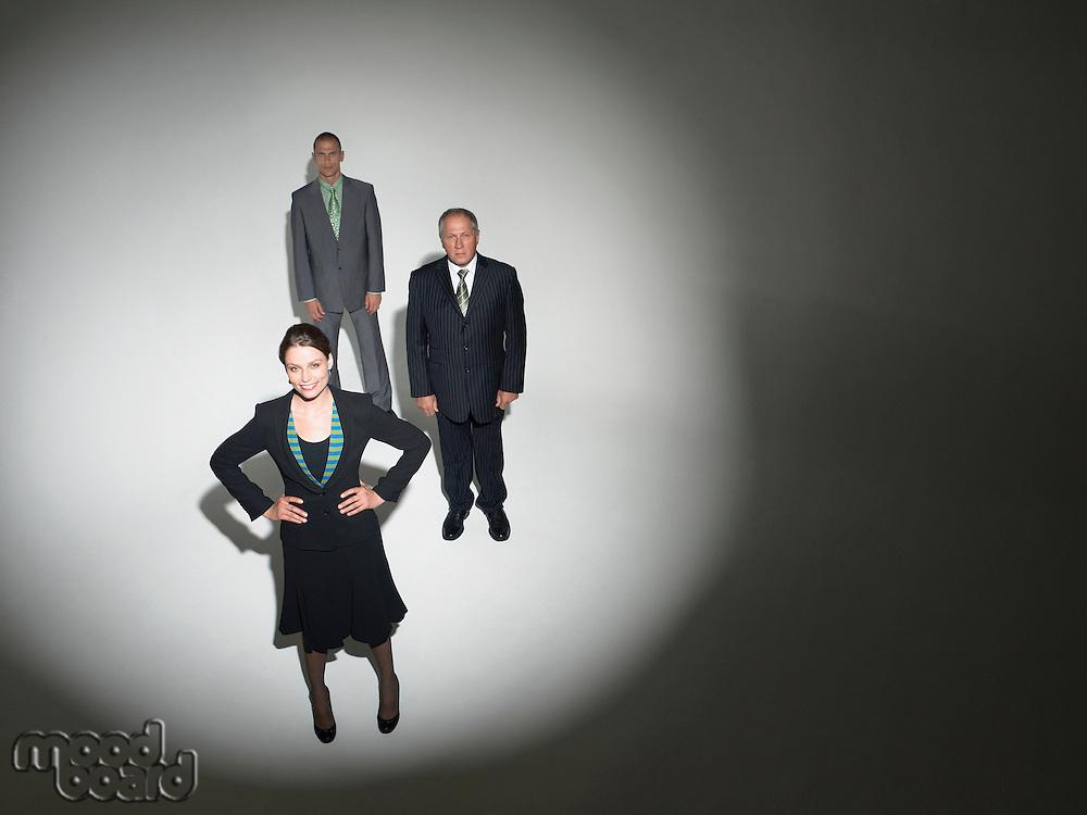 Businesspeople Under the Spotlight