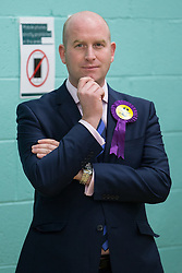 © Licensed to London News Pictures . 09/10/2014 . Heywood , UK . PAUL NUTTALL MEP at the count at the Heywood and Middleton by-election , following the death of sitting MP Jim Dobbin . Photo credit : Joel Goodman/LNP