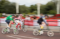 LONDON UK 30TH JULY 2016:  Brompton World Championship. The Prudential RideLondon FreeCycle event over closed roads around the city. Prudential RideLondon in London 30th July 2016.<br /> <br /> Photo: Eddie Keogh/Silverhub for Prudential RideLondon<br /> <br /> Prudential RideLondon is the world's greatest festival of cycling, involving 95,000+ cyclists – from Olympic champions to a free family fun ride - riding in events over closed roads in London and Surrey over the weekend of 29th to 31st July 2016. <br /> <br /> See www.PrudentialRideLondon.co.uk for more.<br /> <br /> For further information: media@londonmarathonevents.co.uk