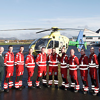 FREE TO USE PHOTOGRAPH....30.10.15<br /> Scotland's Charity Air Ambulance (SCAA) unveiled it's new helicopter at Perth airport this morning a EC135 T2i (pictured) which replaces the Bolkow 105 helicopter which is retiring from service. The new helicopter will increase speed, range, endurance and payload, allow SCAA to fly at night and in cloud. <br /> for further info please contact Maureen Young on 07778 779000<br /> Picture by Graeme Hart.<br /> Copyright Perthshire Picture Agency<br /> Tel: 01738 623350  Mobile: 07990 594431