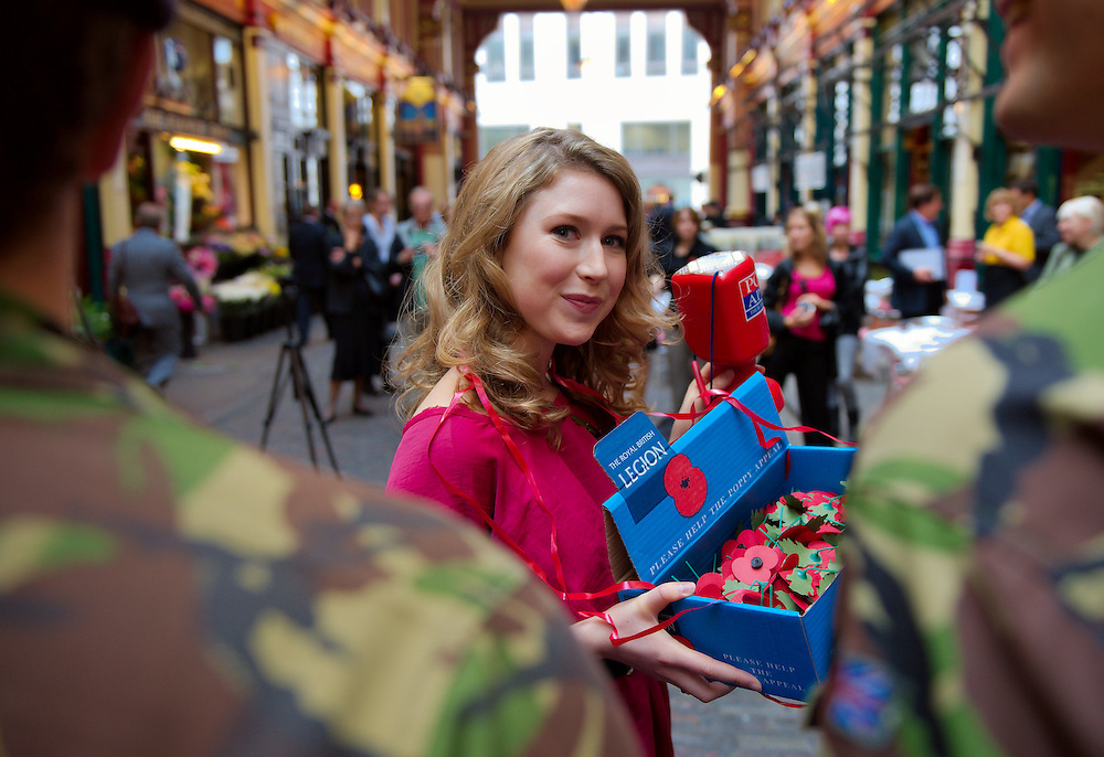 London September 16 Classical musician Hayley Westenra  launches today  the Royal British Legion's Poppu People recruitement drive in London..Standard Licence feee's apply  to all image usage.Marco Secchi - Xianpix tel +44 (0) 7717 298571.http://www.marcosecchi.com