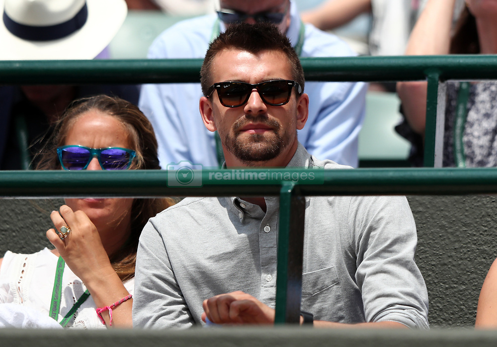 Johanna Konta's boyfriend Jackson Wade in her players box on day seven of the Wimbledon Championships at The All England Lawn Tennis and Croquet Club, Wimbledon.