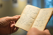 The Port Orford Lifeboat Station is a museum and interpretive center in southern Oregon. It includes items such as this handwritten cookbook from a sea captain from the early 1900's.