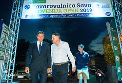 Borut Pahor and Marko Umberger during Final Singles match at Day 9 of ATP Challenger Zavarovalnica Sava Slovenia Open 2018, on August 11, 2018 in Sports centre, Portoroz/Portorose, Slovenia. Photo by Vid Ponikvar / Sportida