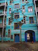 Building That Plays Music When It Rains<br /> <br /> Not only is this beautiful, but it also plays music when it rains. This building is located in Dresden, Germany. It's called Neustadt Kunsthofpassage. And when it rains it starts to play music. when the rain starts to fall, this colourful drain and gutter system attached to the outside of a building in the Neustadt Kunsthofpassage turn into charming musical instruments.The Funnel Wall is one of the strangest and most enjoyable attractions in Dresden's student district in the new town. The Neustadt Kunsthofpassage, is an artsy neighborhood in Dresden, Germany. Somebody had the genius idea to cover one wall with funnels and gutters shaped like musical instruments that capture water as it runs off the building into this elaborate drainage system.<br /> Can you imagine the noise during a thunderstorm!<br /> ©Exclusivepix