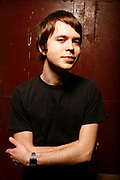 Tom Vek, studio portrait shoot at label East London, 2000's
