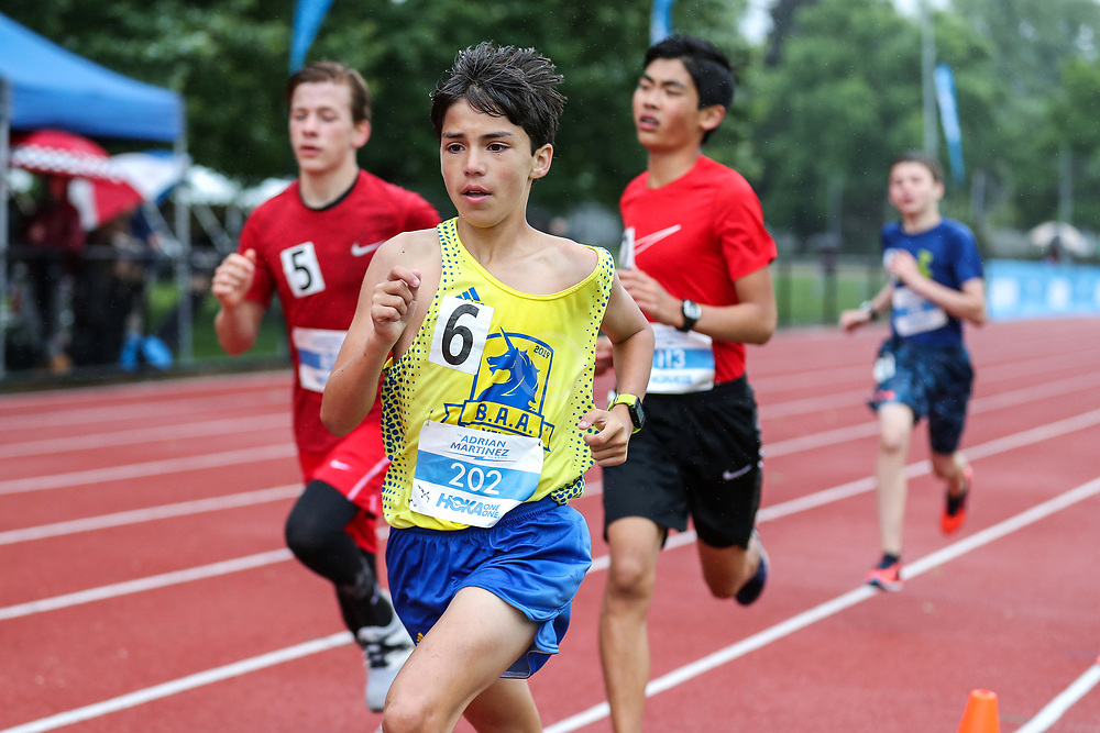 Boys One Mile Run, age 11-14<br /> 2019 Adrian Martinez Track Classic