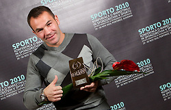 Dejan Zavec as men best brand during Sporto  2010 Gala Dinner and Awards ceremony at Sports marketing and sponsorship conference, on November 29, 2010 in Hotel Slovenija, Portoroz/Portorose, Slovenia. (Photo By Vid Ponikvar / Sportida.com)