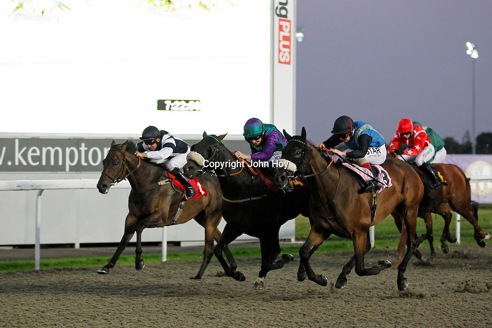 Ermyntrude and Ian Mongan winning the 7.20 race