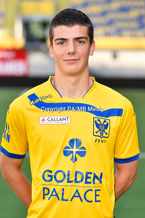 STVV's Iebe Swers poses for the photographer during the 2015-2016 season photo shoot of Belgian first league soccer team STVV, Friday 17 July 2015 in Sint-Truiden.