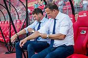 ALKMAAR - 25-08-2016, AZ - Vojvodina, AFAS Stadion, Assistent trainer Dennis Haar, AZ trainer John van den Brom