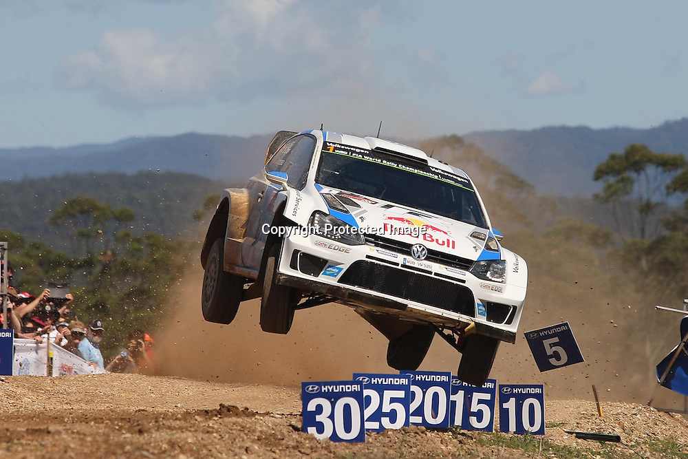 Sebastien Ogier (FR) during Special Stage 17, Rally Australia - Round 10 of the FIA World Rally Championship, Day 3, 14 September 2014. Photo: Alan McDonald/www.photosport.co.nz