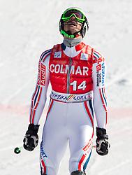 Steve Missillier of France in action during 2nd Run of Men's Slalom of FIS Ski World Cup Alpine Kranjska Gora, on March 6, 2011 in Vitranc/Podkoren, Kranjska Gora, Slovenia.  (Photo By Vid Ponikvar / Sportida.com)