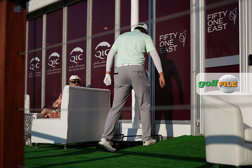 Sami Valimaki (FIN) on the 18th during Round 2 of the Commercial Bank Qatar Masters 2020 at the Education City Golf Club, Doha, Qatar . 06/03/2020<br /> Picture: Golffile | Thos Caffrey<br /> <br /> <br /> All photo usage must carry mandatory copyright credit (© Golffile | Thos Caffrey)