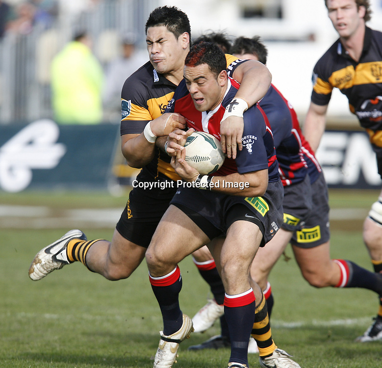 Kahn Fotuali'i Tasman Makos Half back in action against Taranaki,at Trafalgar Park on Sunday,Tsaman won the game 33-23. 17 August 2008.