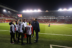 Sheffield Wednesday manager Jos Luhukay chats with Sheffield United ball boys - Mandatory by-line: Robbie Stephenson/JMP - 12/01/2018 - FOOTBALL - Bramall Lane - Sheffield, England - Sheffield United v Sheffield Wednesday - Sky Bet Championship