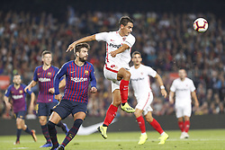 October 20, 2018 - Barcelona, Catalonia, Spain - Sevilla FC forward Wissam Ben Yedder (9) during the match FC Barcelona against Sevilla FC, for the round 9 of the Liga Santander, played at Camp Nou  on 20th October 2018 in Barcelona, Spain. (Credit Image: © Mikel Trigueros/NurPhoto via ZUMA Press)