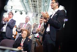 """01.07.2017, Design Center, Linz, AUT, ÖVP, 38. ordentlicher Bundesparteitag, mit Wahl von Bundesminister Kurz zum neuen Bundesparteiobmann, unter dem Motto """"Zeit für Neues - Zusammen neue Wege gehen"""". im Bild Edih Mock // Edih Mock during political convention of the Austrian People' s Party with election of Sebastian Kurz as the new party leader at Design Centre in Linz, Austria on 2017/07/01. EXPA Pictures © 2017, PhotoCredit: EXPA/ Michael Gruber"""