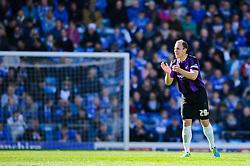 Mark McChrystal (NIR) of Bristol Rovers claps - Photo mandatory by-line: Rogan Thomson/JMP - 07966 386802 - 19/04/2014 - SPORT - FOOTBALL - Fratton Park, Portsmouth - Portsmouth FC v Bristol Rovers - Sky Bet Football League 2.