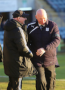 Livingston boss John McGlynn and Dundee manager John Brown - Dundee v Livingston,  SPFL Championship at Dens Park<br /> <br />  - &copy; David Young - www.davidyoungphoto.co.uk - email: davidyoungphoto@gmail.com