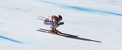 February 17, 2018 - Pyeongchang, South Korea - Ester LEDECKA of Czech Republic wins the Gold Medal with this run in this pan action image during the Ladies' Super-G at the Jeongseon Alpine Centre during the 2018 Pyeongchang Winter Olympic Games.XXX of xxx in action during the Ladies' Super-G at the Jeongseon Alpine Centre during the 2018 Pyeongchang Winter Olympic Games. (Credit Image: © Daniel A. Anderson via ZUMA Wire)