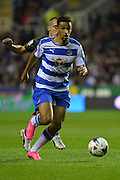 Reading's Nick Blackman looking to attack during the Capital One Cup match between Reading and Everton at the Madejski Stadium, Reading, England on 22 September 2015. Photo by Mark Davies.