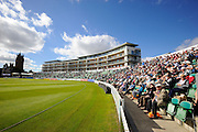A good crowd at the County Ground for day 3 of the Specsavers County Champ Div 1 match between Somerset County Cricket Club and Nottinghamshire County Cricket Club at the Cooper Associates County Ground, Taunton, United Kingdom on 22 September 2016. Photo by Graham Hunt.