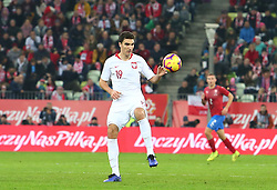 November 15, 2018 - Gdansk, Pomorze, Poland - Marcin Kaminski (19) during the international friendly soccer match between Poland and Czech Republic at Energa Stadium in Gdansk, Poland on 15 November 2018  (Credit Image: © Mateusz Wlodarczyk/NurPhoto via ZUMA Press)
