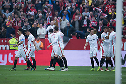 December 16, 2018 - Seville, Andalucia, Spain - Sevilla players celebrate the second goal of Sevilla FC during the LaLiga match between Sevilla FC and Girona at Estadio Ramón Sánchez Pizjuán on December 16, 2018 in Seville, Spain  (Credit Image: © Javier MontañO/Pacific Press via ZUMA Wire)