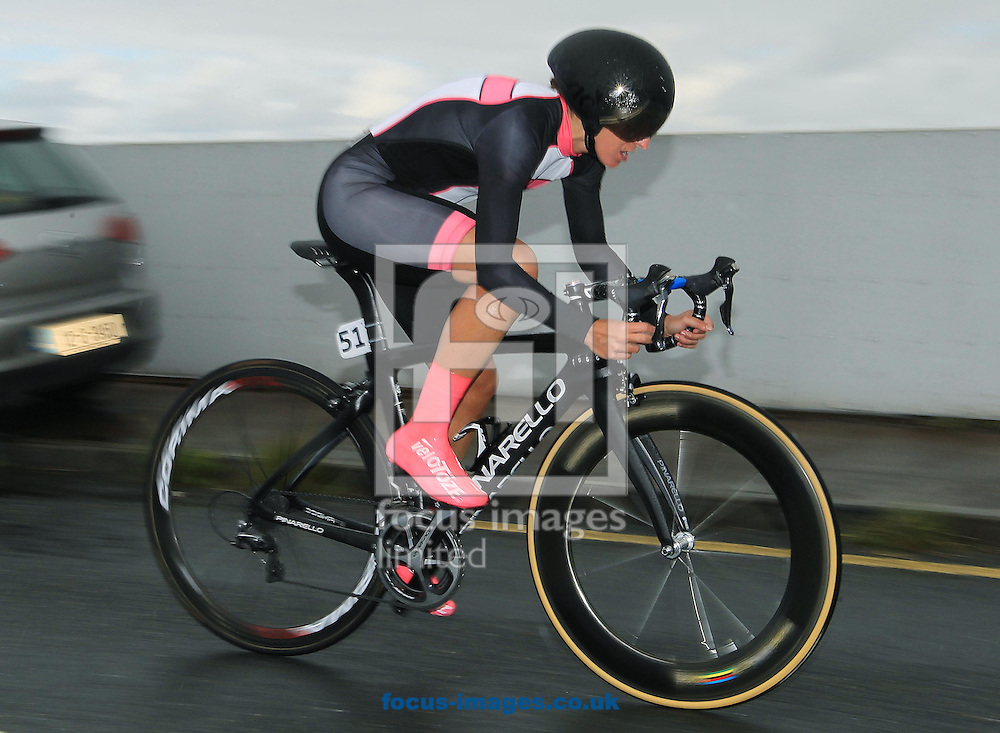 Britain's Nikki Juniper of Team Giordana Triton during the 8km Individual Time Trial on Stage Four of the An Post Women's Tour of Ireland in Barefield, Ireland.<br /> Picture by Lorraine O'Sullivan/Focus Images Ltd +353 872341584<br /> 12/09/2015