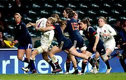 Danielle Waterman of England gets through a tackle - Mandatory by-line: Robbie Stephenson/JMP - 04/02/2017 - RUGBY - Twickenham - London, England - England v France - Women's Six Nations