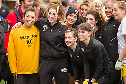 London, Ontario ---2012-11-10--- The Waterloo Warriors get ready at the 2012 CIS Cross Country Championships at Thames Valley Golf Course in London, Ontario, November 10, 2012. .GEOFF ROBINS Mundo Sport Images