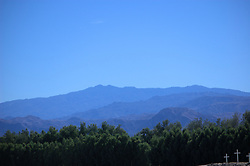 Blue Layers of Mountains, Along Interstate 10, Arizona, USA