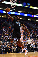 Jan 30, 2017; Phoenix, AZ, USA; Memphis Grizzlies guard Tony Allen (9) lays up the ball against the Phoenix Suns in the first half of the NBA game at Talking Stick Resort Arena. The Memphis Grizzlies won 115-96.  Mandatory Credit: Jennifer Stewart-USA TODAY Sports